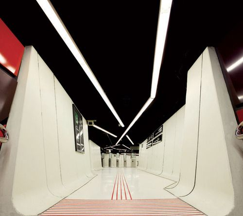 From The George Lucas Thx 1138 Archives Movie Spaces Metro Station Commercial Interior Design Commercial Interiors