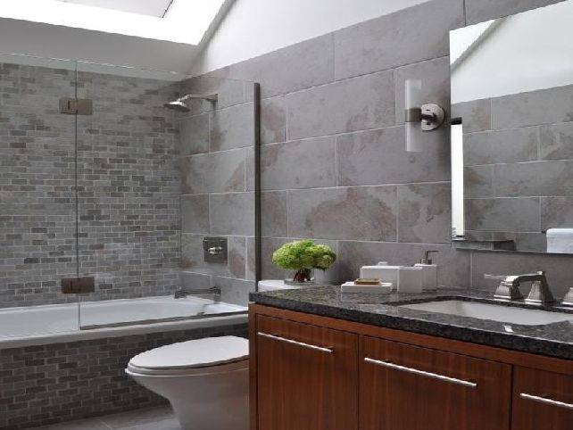 Gray Bathroom Vanity, Tile Ideas, Walls, Cabinets, And Accessories. Choose  Grey