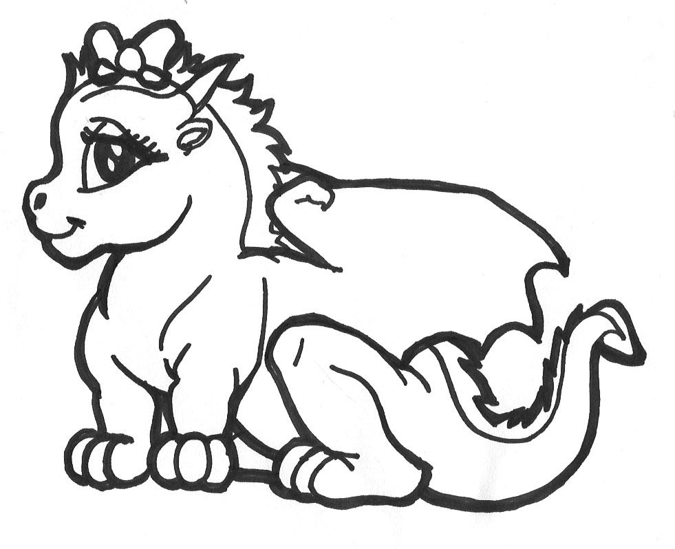Dragon Tales Coloring Pages To Print Dragon Coloring Page