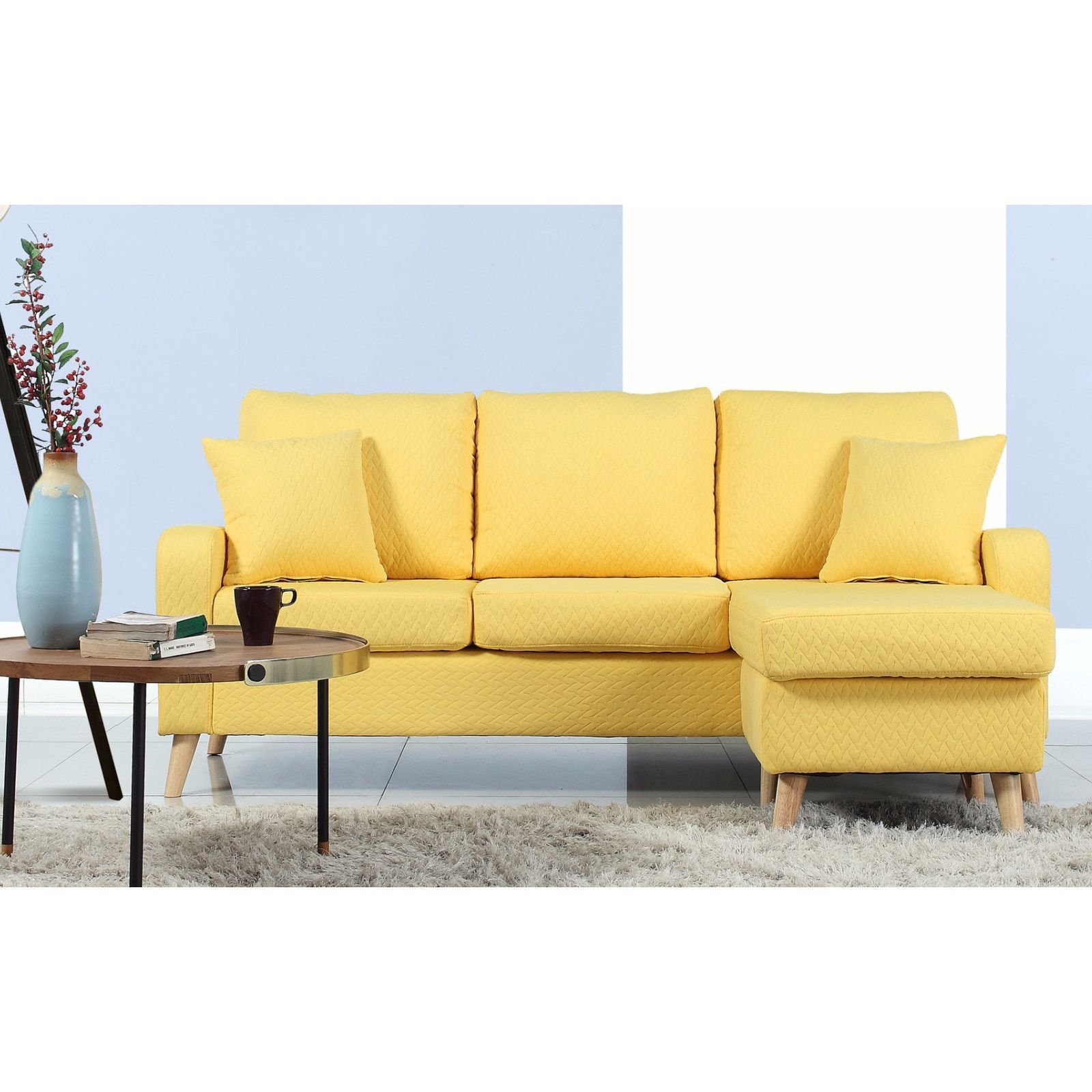 Remarkable Madison Mid Century Modern Small Space Sectional Sofa With Machost Co Dining Chair Design Ideas Machostcouk