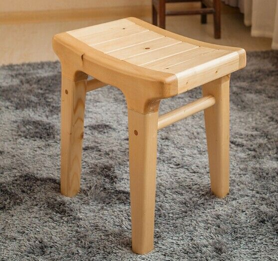 wooden stool pure natural handmade solid wood furniture products