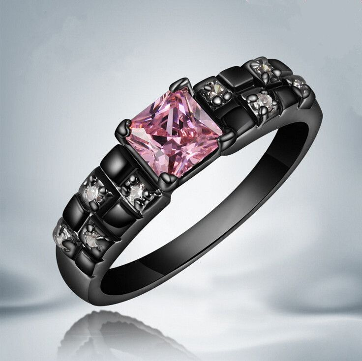 cheap ring cushion buy quality ring camera directly from china ring ring suppliers new hot top quality black wedding ring pink black gold filled rings for - Pink And Black Wedding Rings
