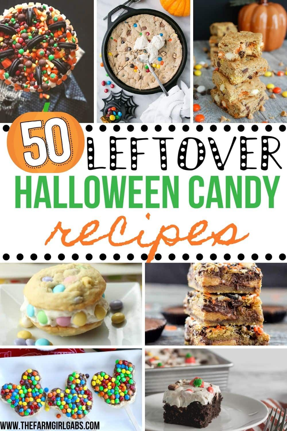 50 Recipes To Make With Leftover Halloween Candy in 2020