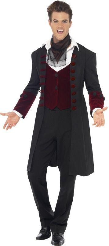 Gothic Vampire Clothing for Men   Details about Fever Gothic Vampire Men s  Fancy Dress Halloween Dracula . d8a8b369ab