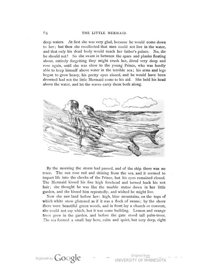 Fairy tales / translated from the Danish by Carl Siewers ; illustrated ... | HathiTrust  Pinterest Board: Vintage Mermaid Illustrations