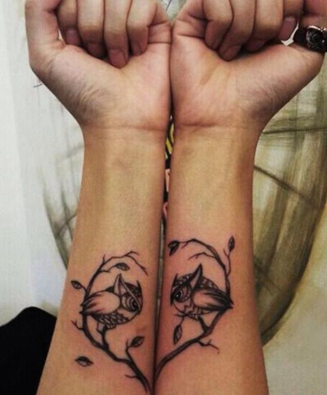 Awesome couples tattoo. Love that it can go together or have each part be great on it's own