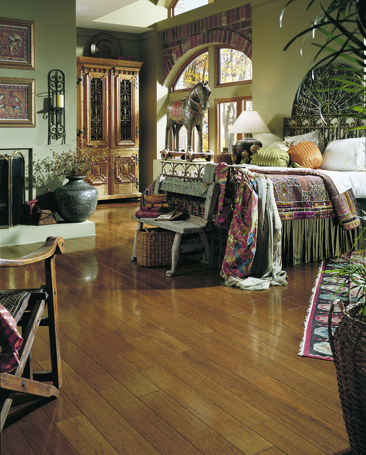 Mannington Hardwood Cherry Stain Hickory House flooring
