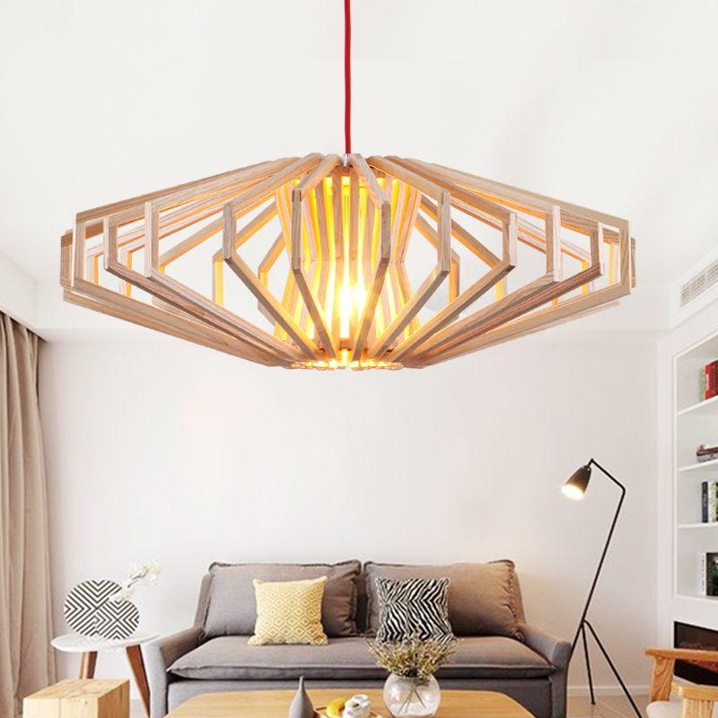 moderne art houten hanglampen japanse stijl opknoping hout