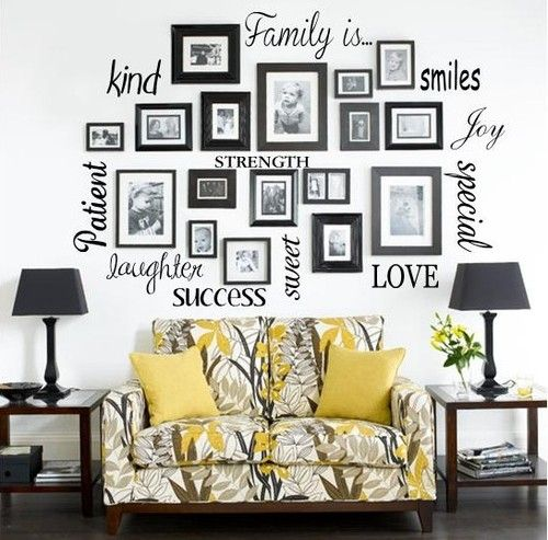 FAMILY IS Vinyl Lettering Words Wall Art Quote Sticky Decals Sticker ...