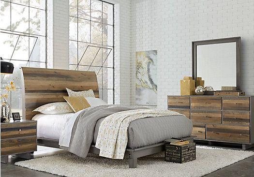 Moss Creek Gray 5 Pc Queen Sleigh Bedroom in 2018 Bed Room