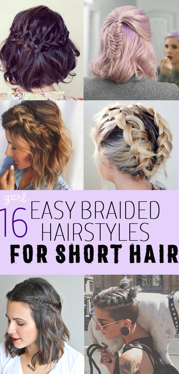 easy and cute braided hairstyles for short hair lob updos and