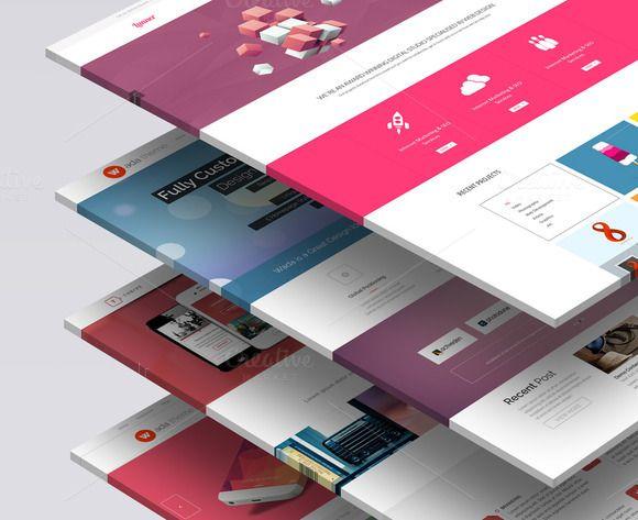 3d Website Mock Up 1 Web Template Design Mockup Design Website Design