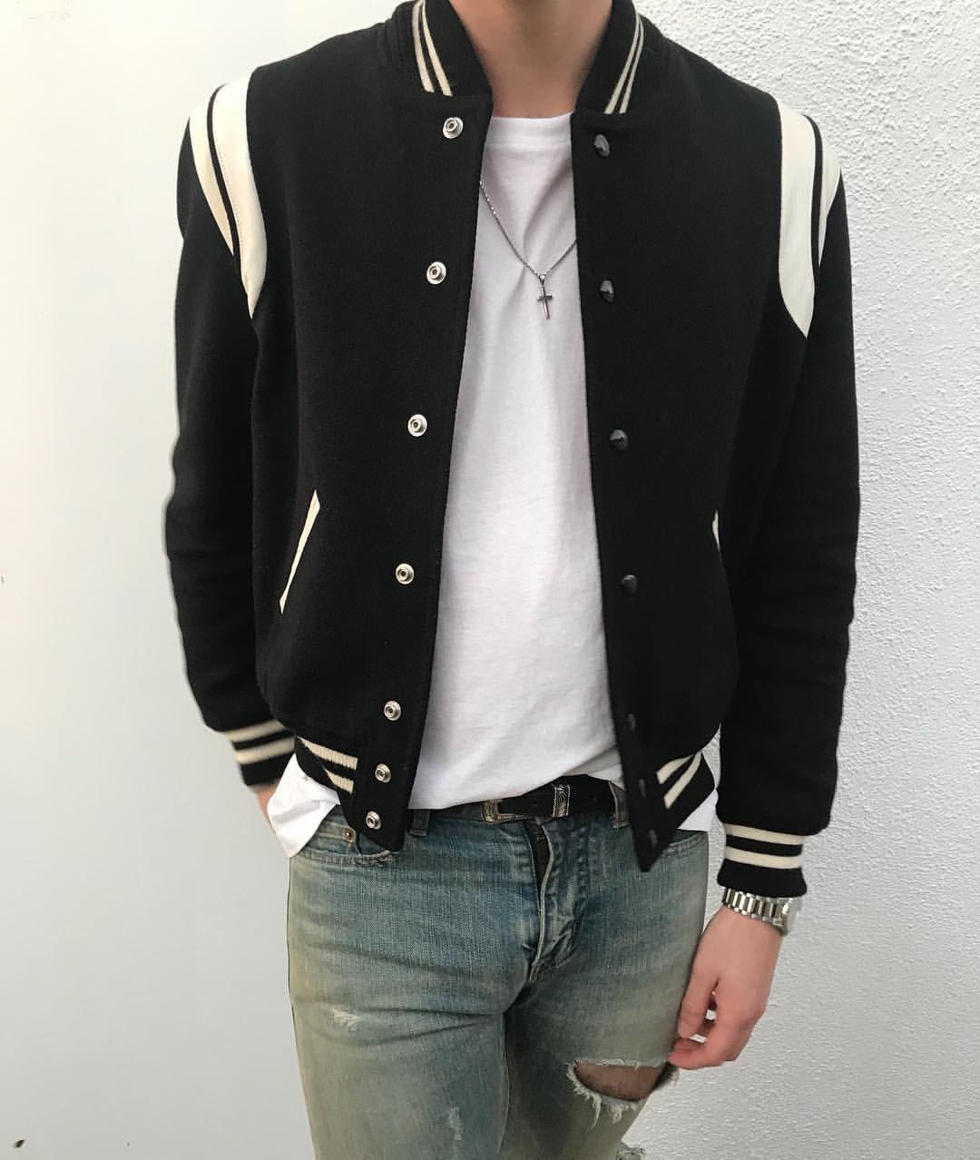 Back in black Fashion, Varsity jacket, Back to black