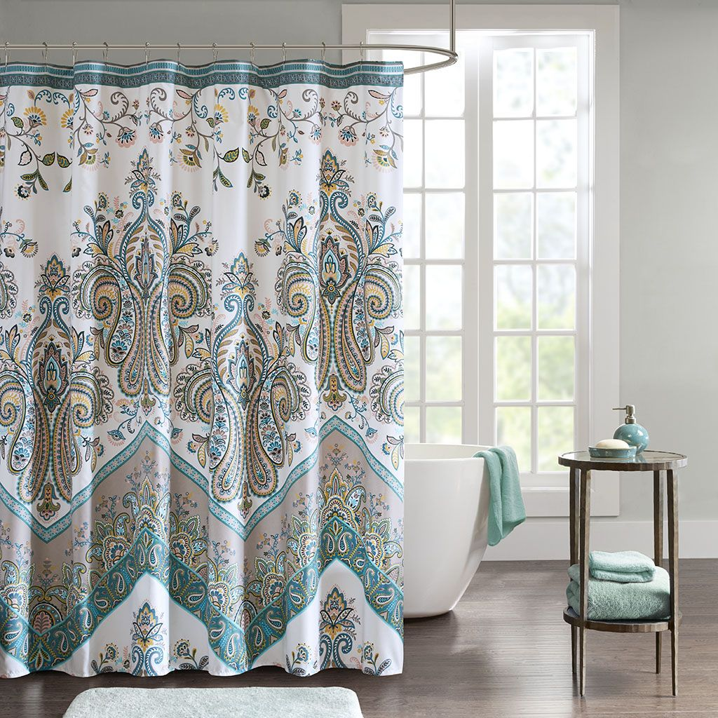 Tulay Printed Shower Curtain Curtains Fabric Shower Curtains Bathroom Shower Curtains