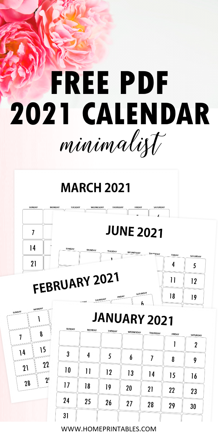 Calendar 2021 Printable For Free Instant Download In 2020 Printable Day Planner Planner Printables Free Calendar Printables