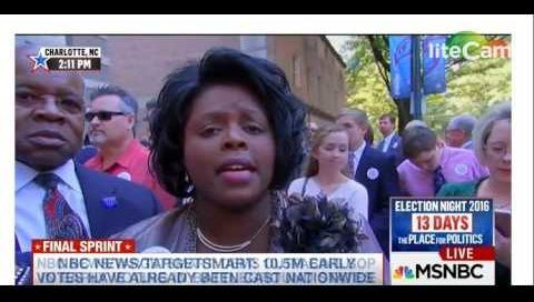 A father, mother (Gloria), and daughter (Trina) were approached by MSNBC and asked their thoughts on Trump's inner-city policies that have been panned by critics.