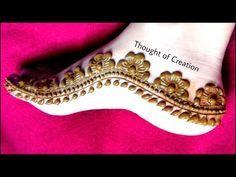 Half Mandala Leg Mehndi Design Easy Simple Henna Mehendi Pattern