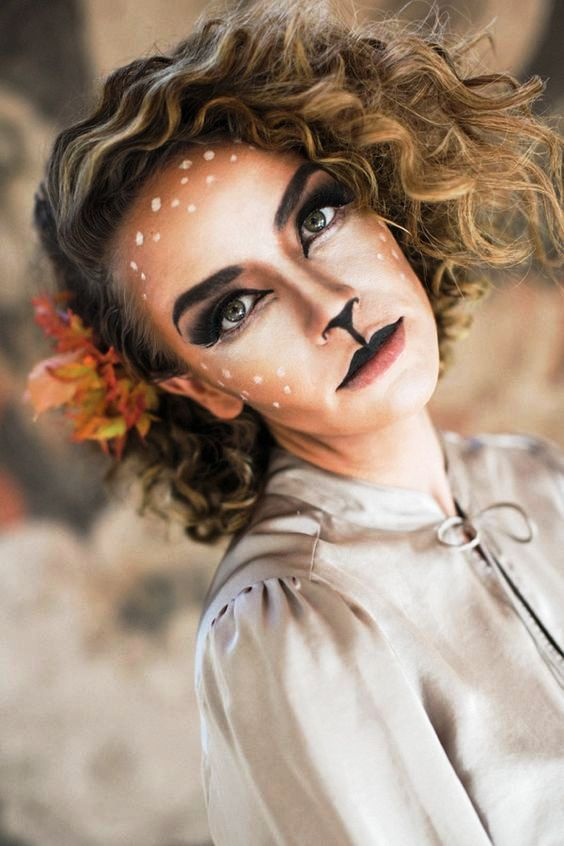 real makeup to look alike deer Fall Pinterest Makeup - easy makeup halloween ideas