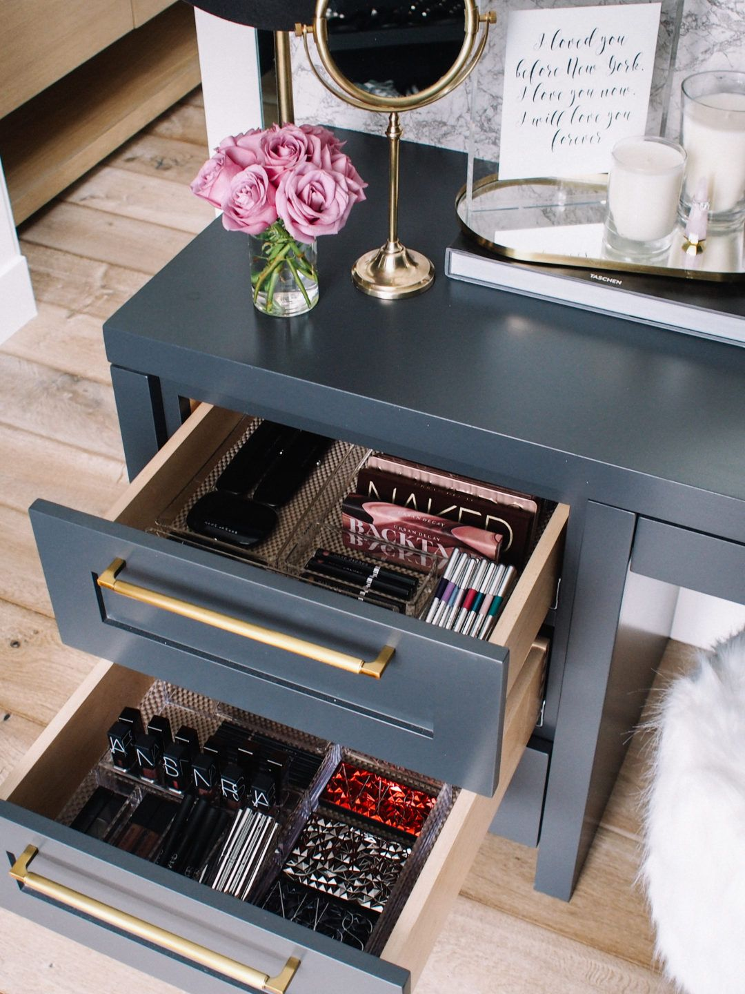 How I Organize My Makeup Drawers Andee Layne Makeup