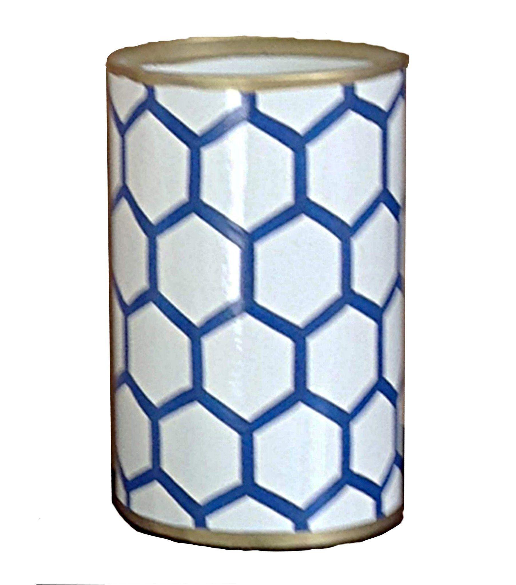 Blue Mesh Pen Cup
