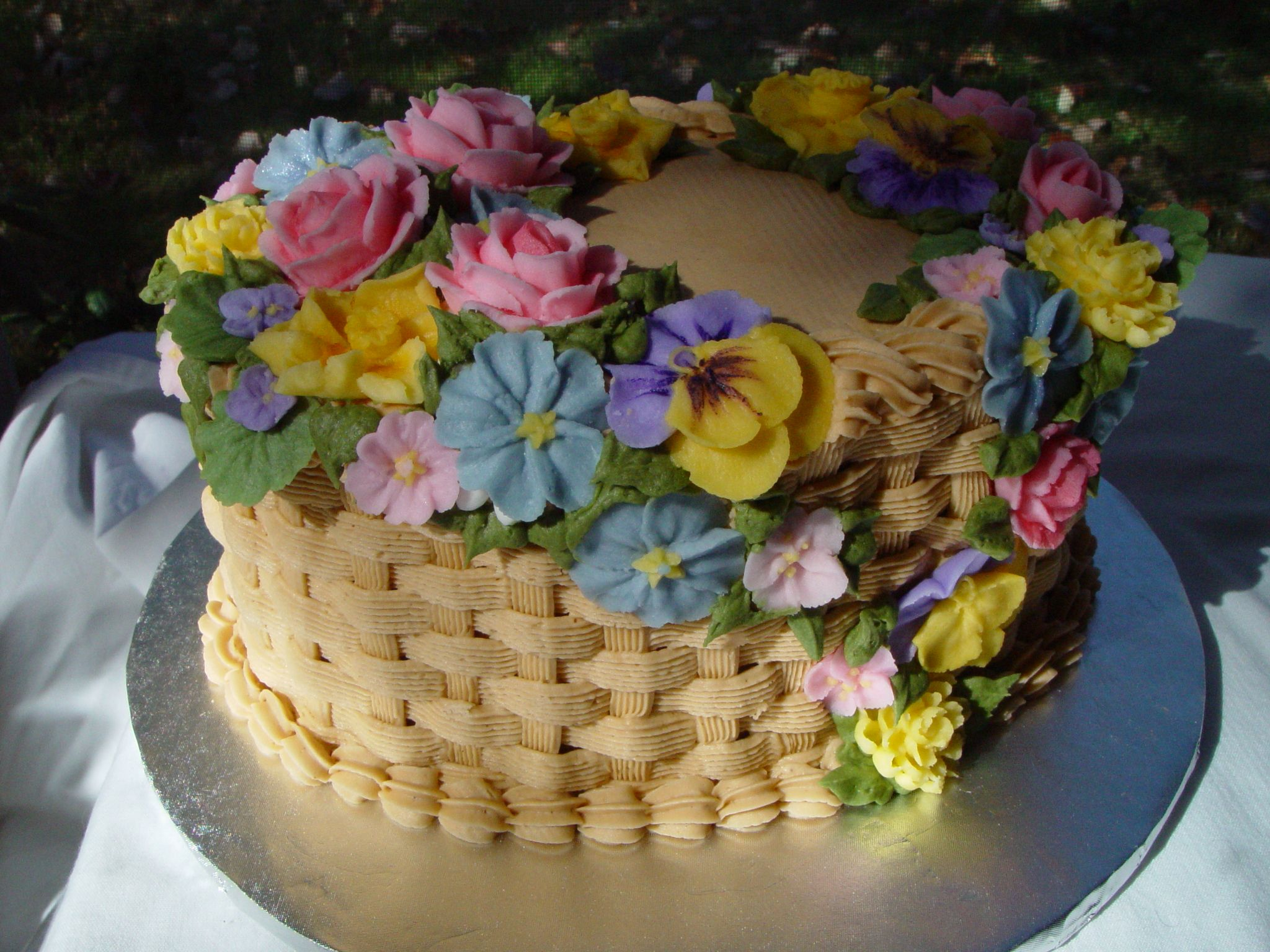 Birthday Cake Images And Flowers ~ Buttercream decorated birthday cakes cake with buttercream
