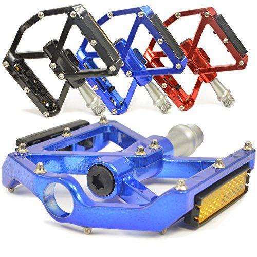 Cycling Flat-Platform Pedals Mountain Bike MTB//BMX Bearing 1//2 inch Blue