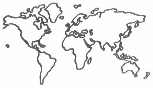 Temporary tattoos are not shown in actual size description from black line outline map of the world gumiabroncs Image collections