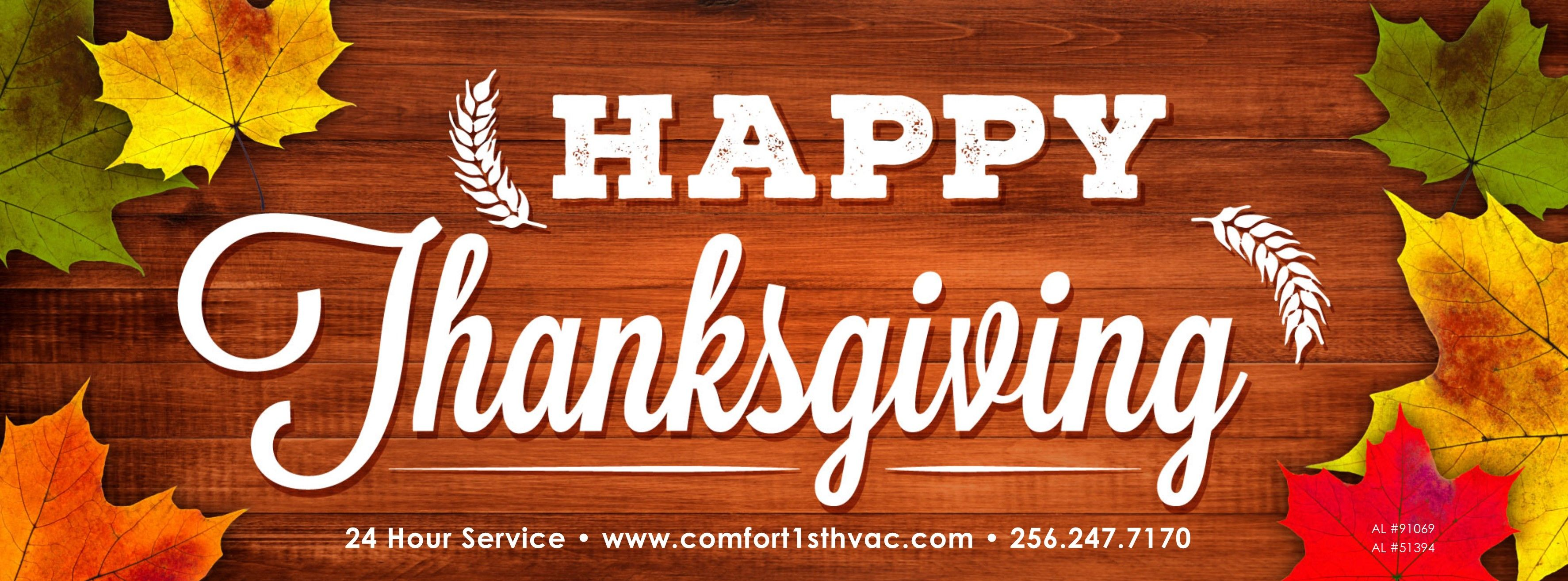Happy Thanksgiving From Your 1 Choice Heating And Cooling Company