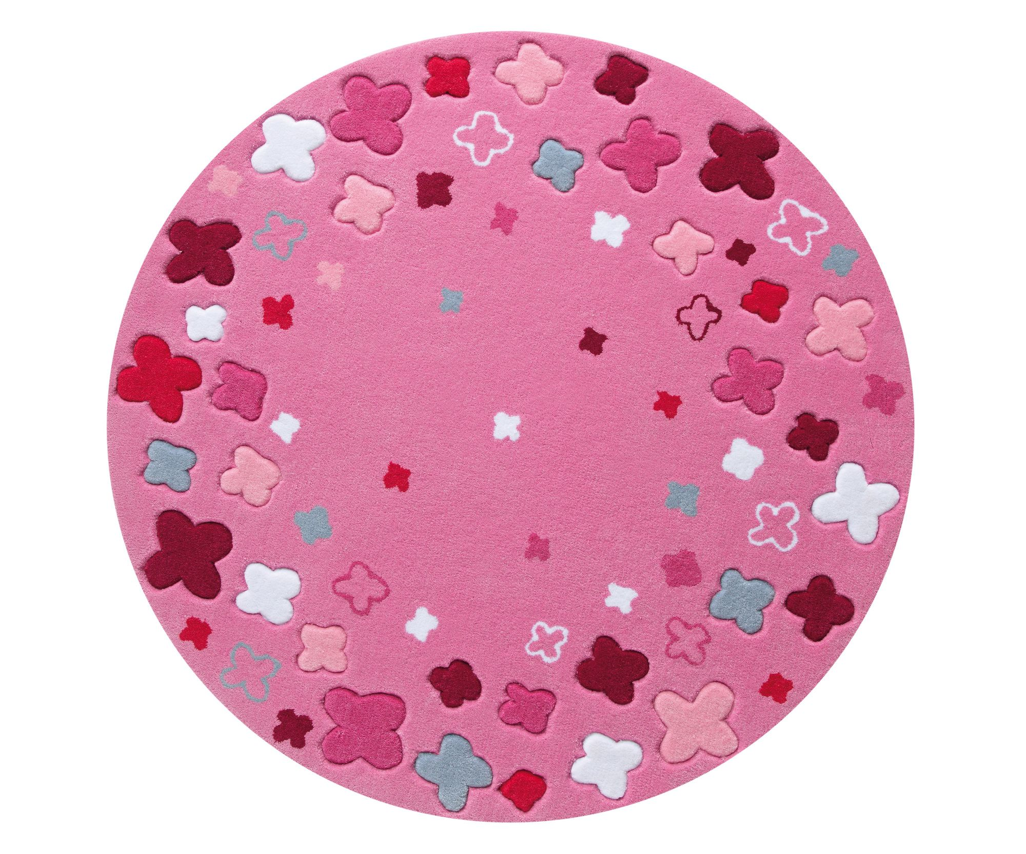 Esprit Bloom Field Pink Kids Round Rug Wayfair Uk