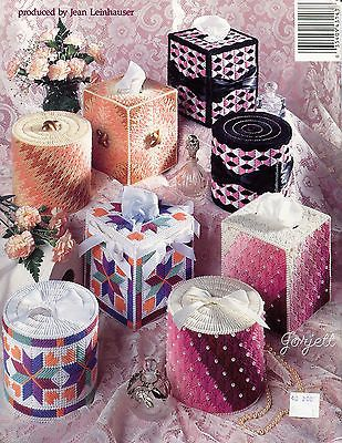 Bathroom Tissue Sets ~ Boutique /& Tissue Roll Cover Sets plastic canvas patterns