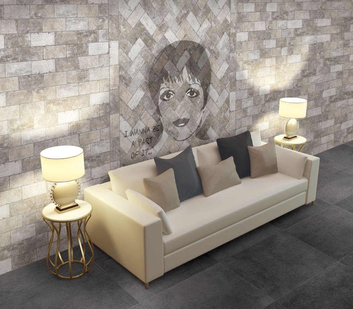 Gotham Light Grey Brick Tiles Bathroom Home Decor Floo