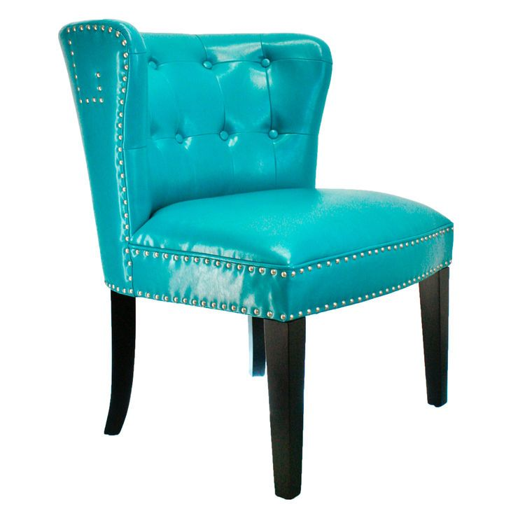 Best Teal Bonded London Studded Chair Studded Chair Teal 640 x 480