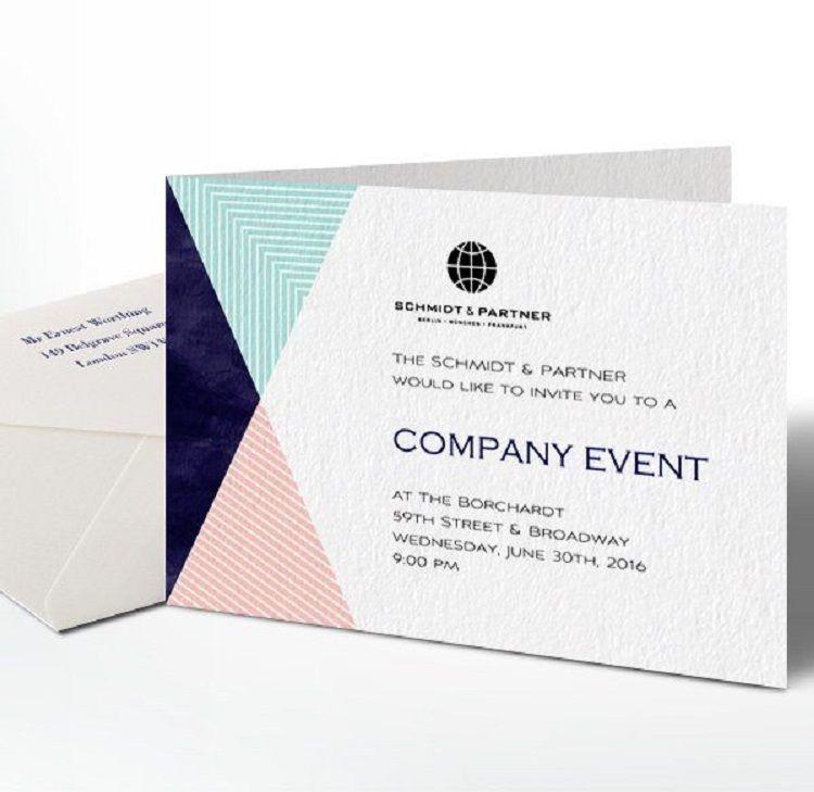 Business Party Invitation Text Corporate Invitation Design