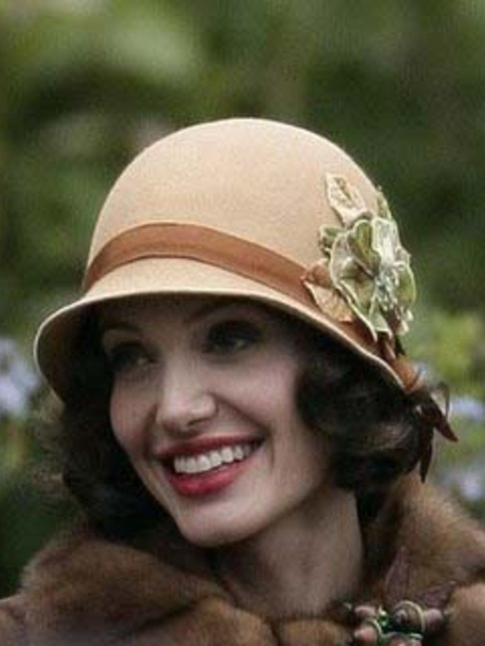735cc38b464c5 Angelina in a 1920s cloche in the movie Changling