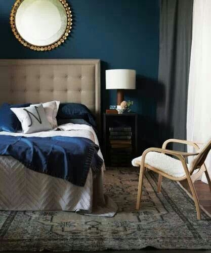 30 Dramatic Bedroom Ideas Decoholic Blue And Gold Bedroom Teal Blue Bedroom Dark Blue Bedrooms