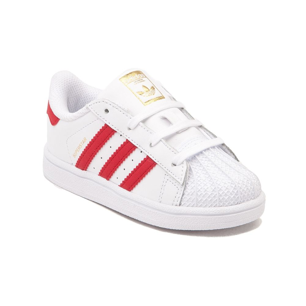 Toddler Red Adidas Superstar Athletic Shoe in size 8