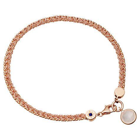 Buy Astley Clarke Planet of Dreams Bracelet with Rose Quartz, Rose Gold Online at johnlewis.com