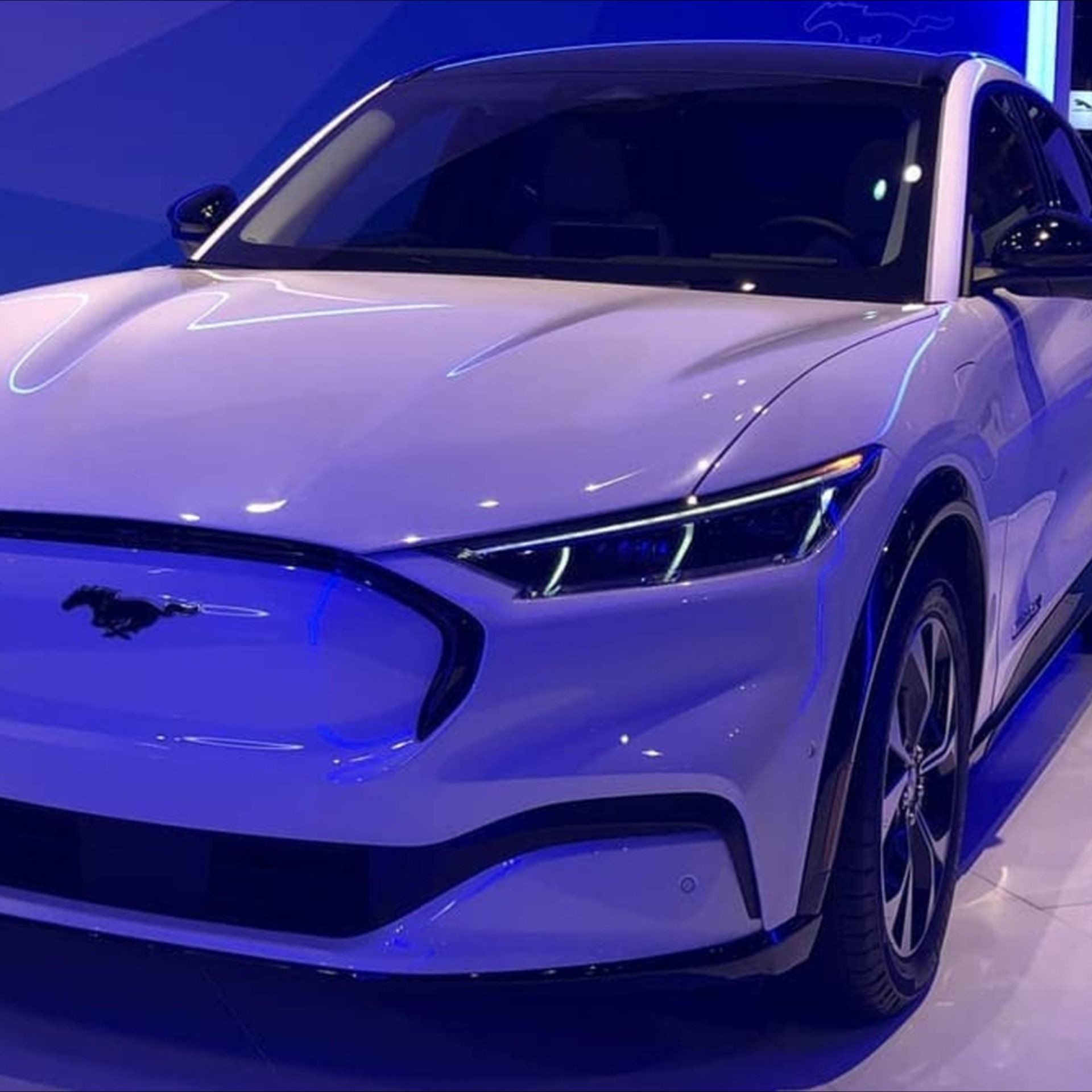 2021 Ford Mustang MachE at the Chicago Auto Show in 2020