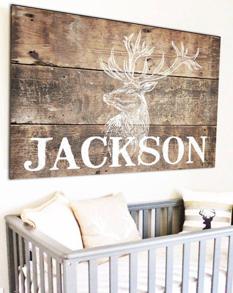 Personalized Woodland Nursery Name Sign Kids Room Baby Decor Rustic Nursaryideas