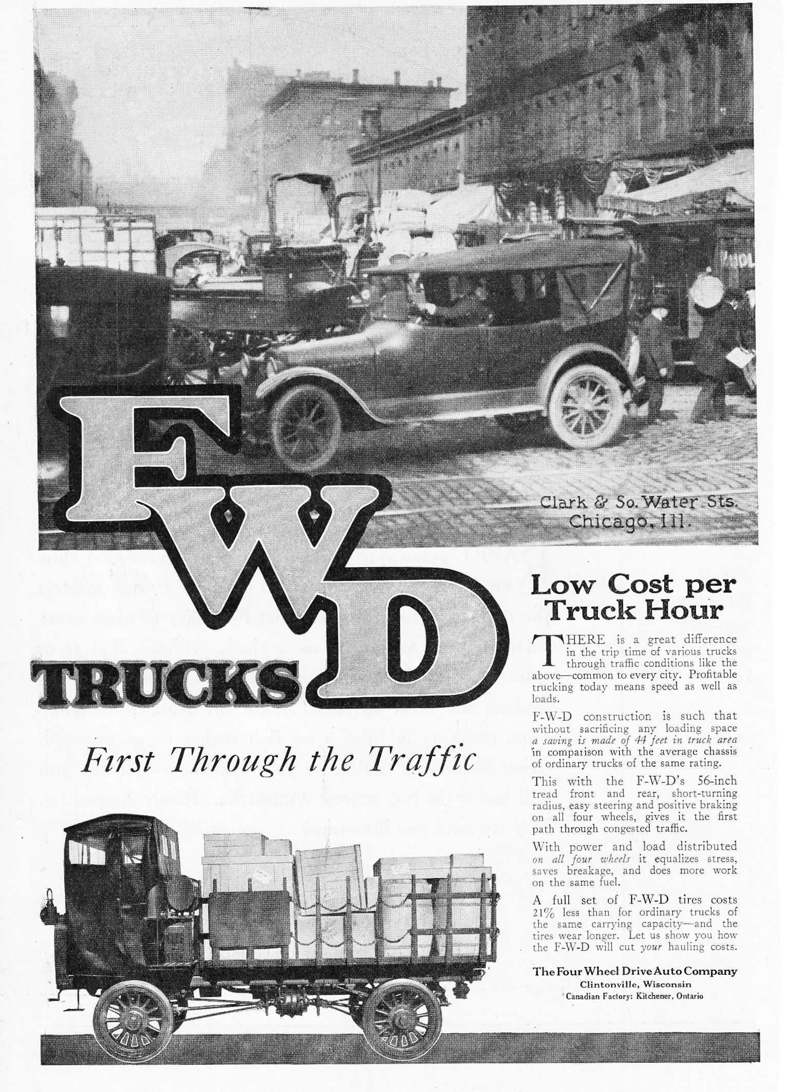 1919 FWD Trucks. The Four Wheel Drive Auto Company. | Autos - Teens ...