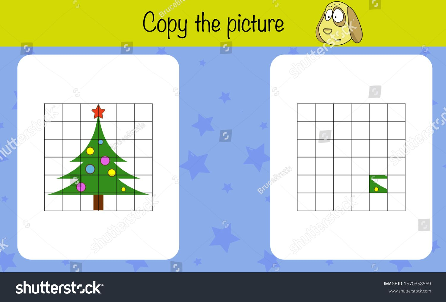 Math Puzzle Game For Children Copy The Picture Preschool