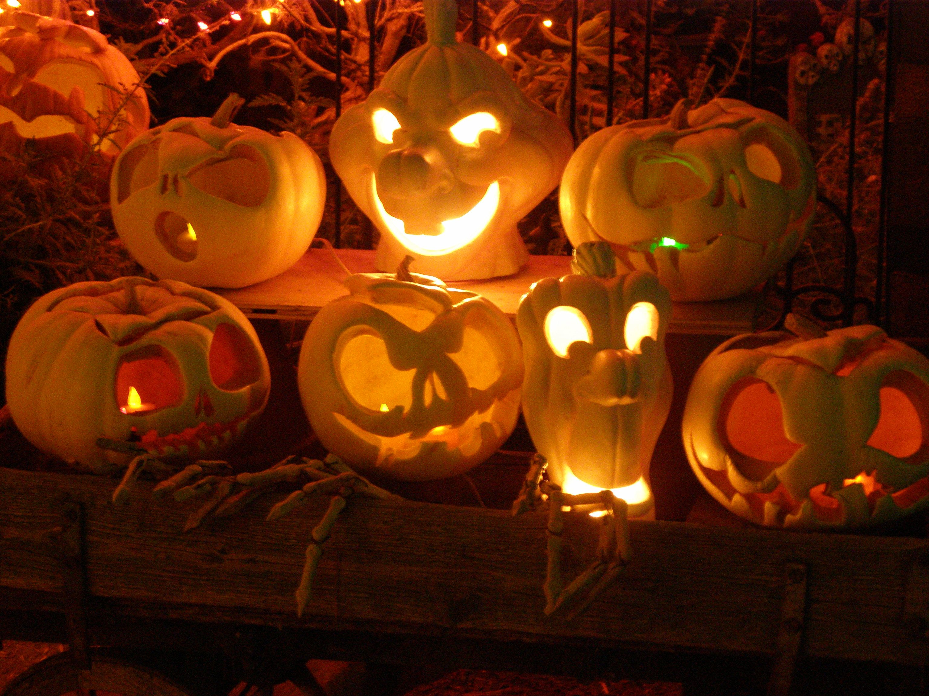 White pumpkins make great Jack Skellington Jack \' O lanterns ...