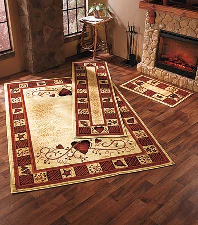 hearts and stars kitchen collection decorative rug collections primitive bathrooms rustic primitive decor primitive homes 6884