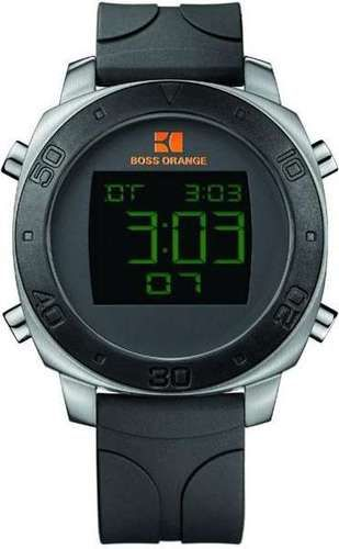 2a0a8b05bdb2 BOSS ORANGE Rubber Digital Mens Watch 1512676