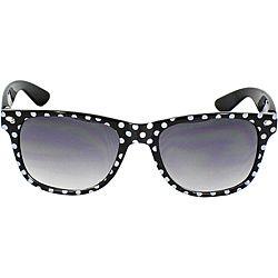 Women's Black/ White Polka-dot Fashion Sunglasses