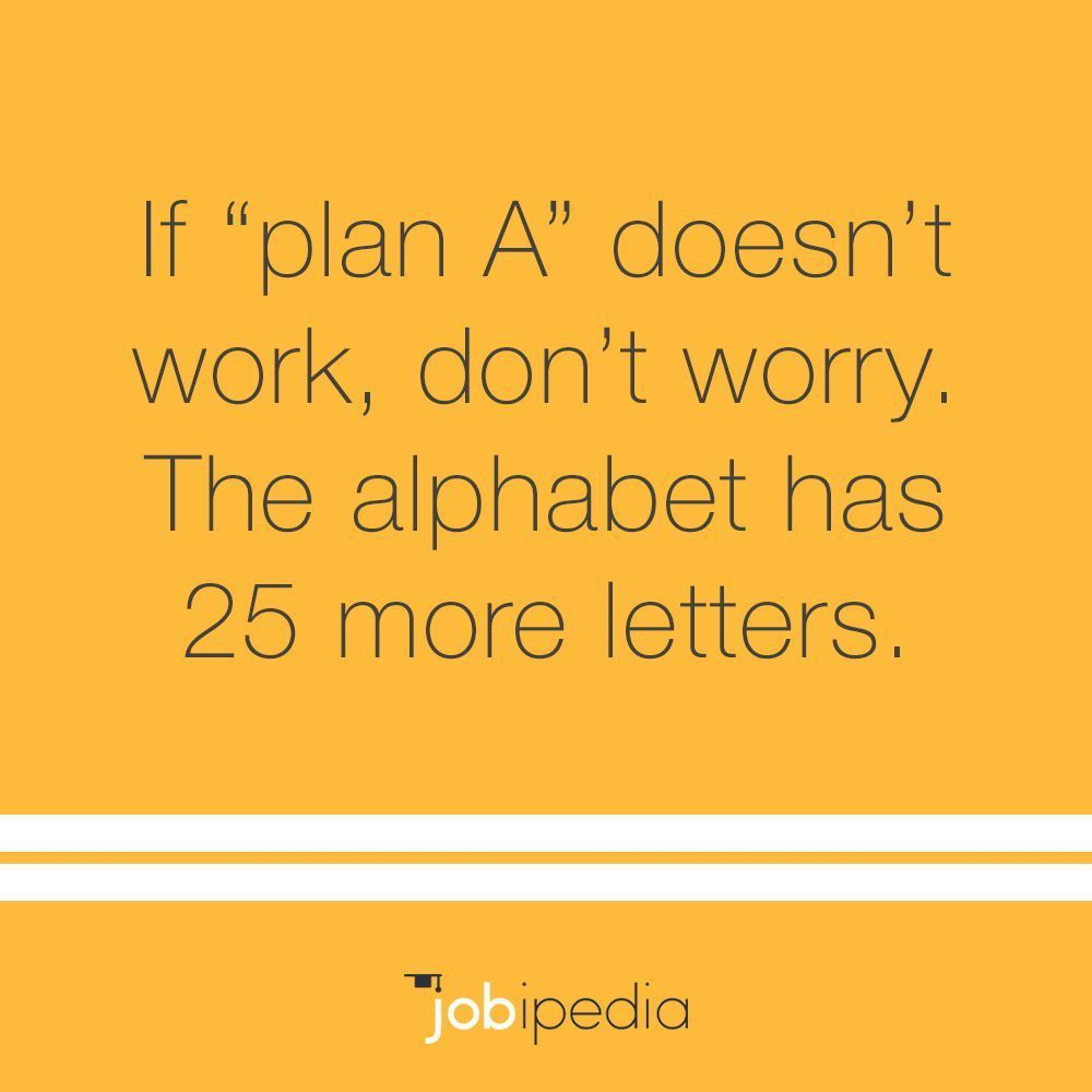 If you run out of letters, it wasn't meant to be. plan