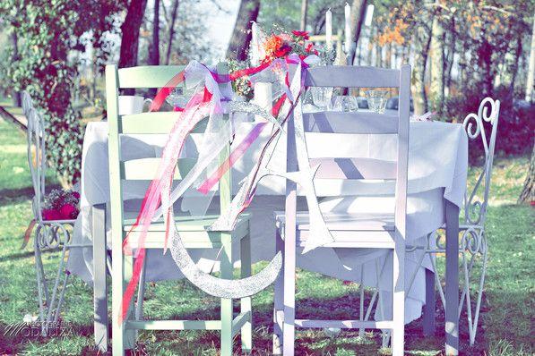 Shooting inspiration mariage Pink & Glitter table bride groom place - La Mariée en colère  Décoration 123 Nous irons  Modaliza photographe