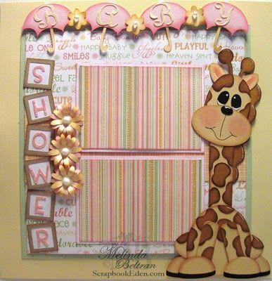 Baby Shower Giraffe Layout