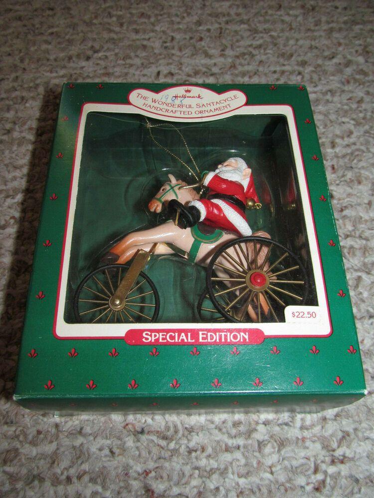 Hallmark Keepsake Ornament The Wonderful Santacycle 1988 Special Edition Bicycle