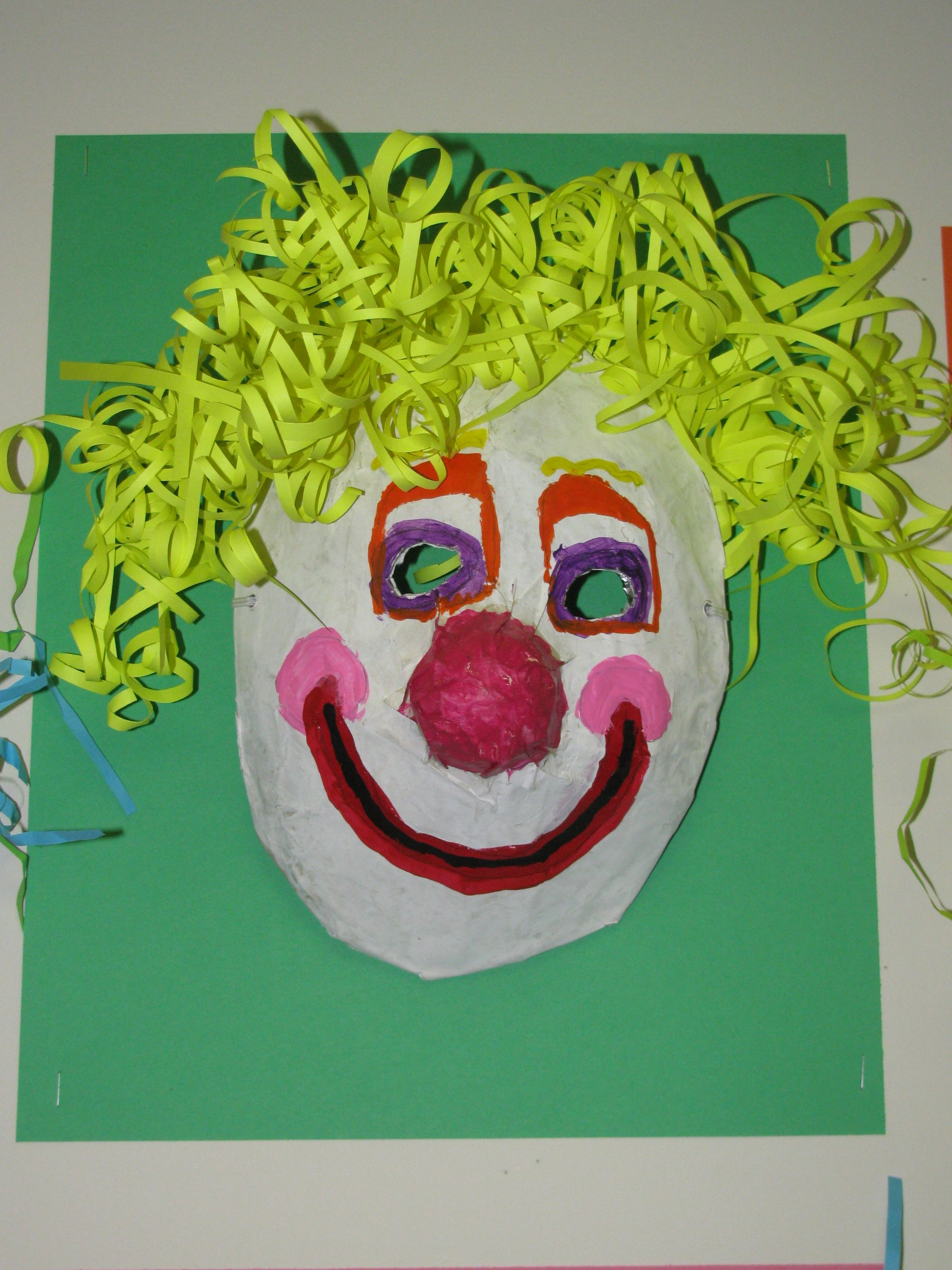 3Rd Grade Paper Mache Clown Mask Art Teacher Susan Joe